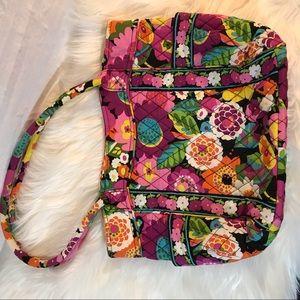 Vera Bradley Fuchsia floral pattern tote bag